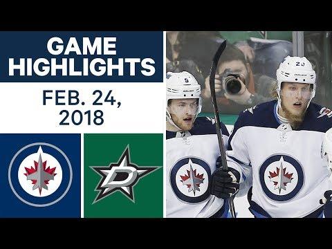 NHL Game Highlights | Jets vs. Stars - Feb. 24, 2018
