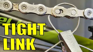 How To Open A Tight Chain Quick Link, Without Special Opener Tool. 4 Tricks.