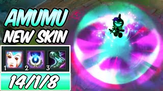 S+ CLEAN NEW AMAZING AMUMU SKIN & ITEMS 3x% HP BURN | Pumpkin Prince Amumu Jungle -League of Legends