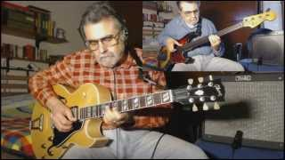 On Green Dolphin Street - 2 Alone - Gibson ES 175 archtop guitar plugged - Fender Jazz Bass Fretless