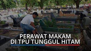 Mengais Rezeki Diantara Kuburan, Begini Kisah Muharidin Si Perawat Makam di Padang