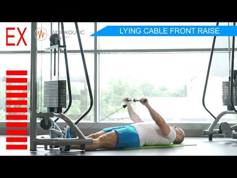 Workoutic - Shoulders Exercise - LYING CABLE FRONT RAISE