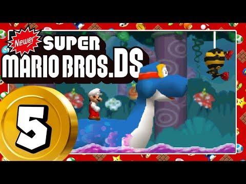 NEWER SUPER MARIO BROS. DS Part 5: Mini-Mario in Aktion & giftiger Wellenritt mit Dorrie