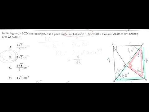 [解答][老師不教的數學] 計數機程式三應用 30度三角形「1-2-開方3」比例活用答題示範
