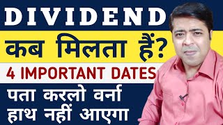 Dividend Dates Explained: Declaration, Record, Ex Dividend, Payment Date? | ITC Dividend 2020  Dates