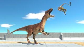 Remastered ALLOSAURUS TEAM on Four Corner Tower - Animal Revolt Battle Simulator