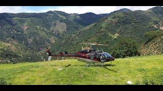 Finca el Diamante en helicóptero