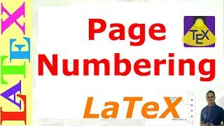 How to Set Page Numbering in LaTeX (LaTeX Tutorial, Episode-16)