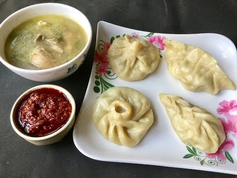 Steamed Chicken Momos With Soup   Chicken Dim Sum   Chinese Momo Recipe - In Bengali