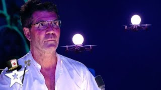 Judges Get Spooked From Flying Drones on BGT! | Magicians Got Talent