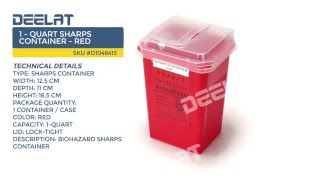 1 - Quart Sharps Container - Red
