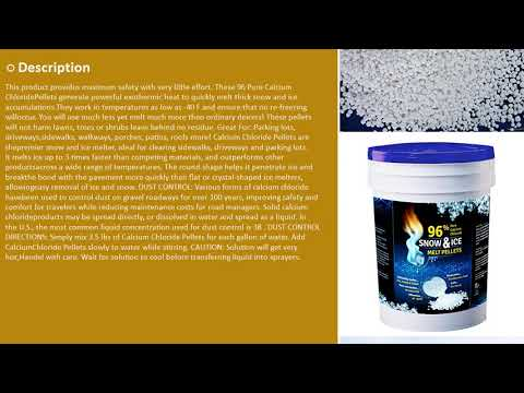 96 Pure CALCIUM CHLORIDE Snow Ice Melt Pellets - 5 Gallon More