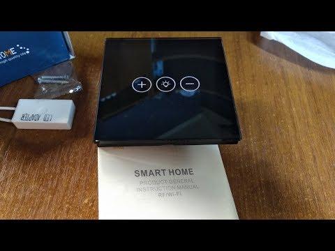 Wi-Fi сенсорный настенный выключатель TOUCH с регулировкой освещения за 1 цент