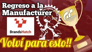 Gran Turismo Sport - Modo Sport   Vuelvo a la Manufacturer Series - Vine para esto!!!