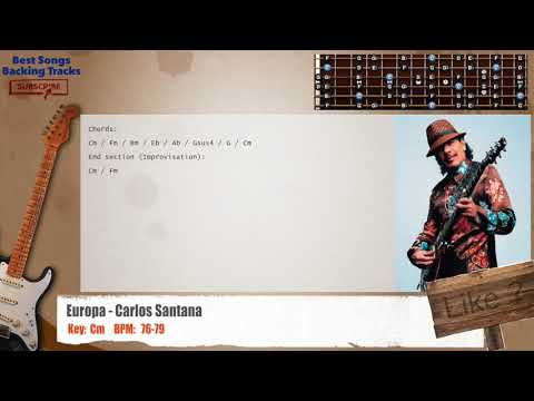 Carlos Santana Guitar Backing Track With Chords Naijafy