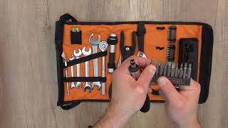 Unboxing Black & Decker A7144-XJ Handy Roll-Up Tool Bag with Automobile Tools