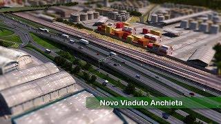 Veja como vai ficar o Viaduto Anchieta, que está sendo construído na Nova Entrada de Santos