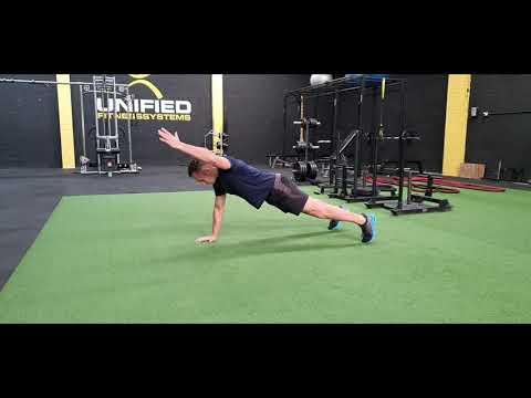 Push-Ups w/ Alternating Arm Reach