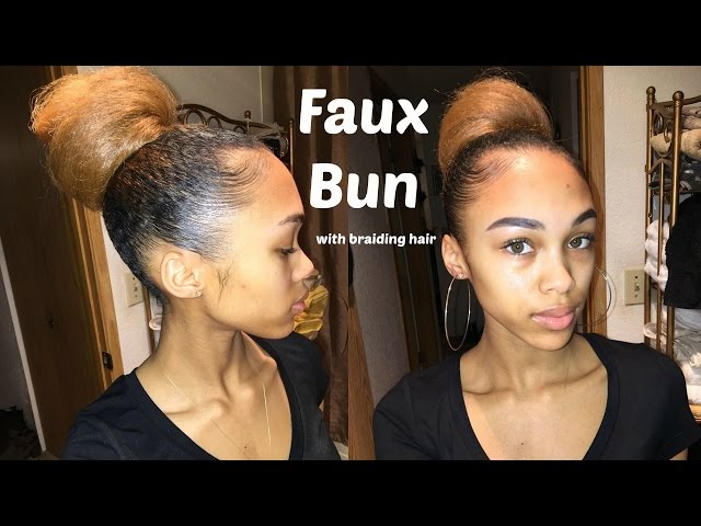 Protective Styles Easy Faux Bun I Can T Cornrow No Problem Abeg Easy