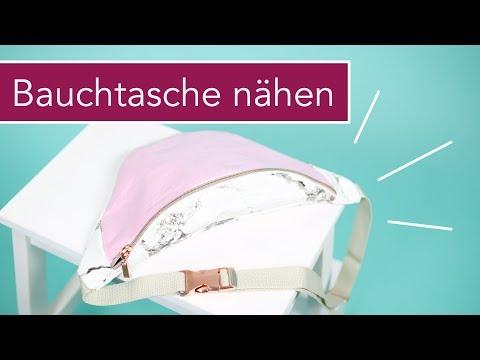 #BauchtascheBabsi nähen: klassische Bauchtasche mit Kunstleder