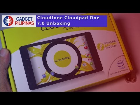 Cloudfone Cloudpad One 7.0 Unboxing