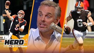 Colin predicts Baker Mayfield and Joe Burrow's NFL futures | NFL | THE HERD