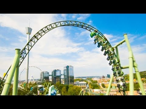 Drone Chases a Rollercoaster Ride in Sweden