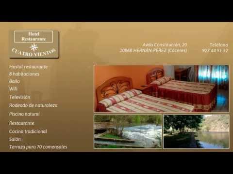 Hoteles en Hernan Perez, Caceres. Hotel restaurante Cuatro Vientos