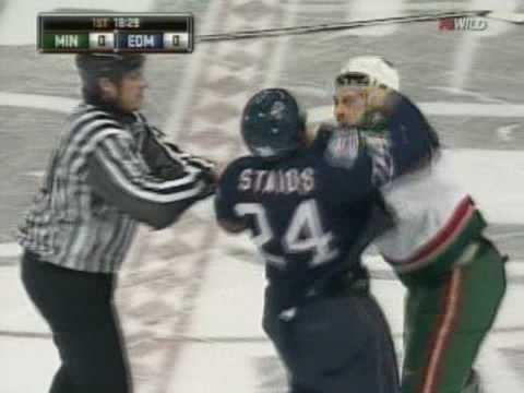Steve Staios vs. Cal Clutterbuck
