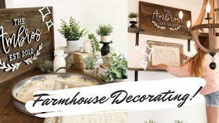 Farmhouse Dining Room Decorate #WITHME // Farmhouse Style Decorating Ideas 2020