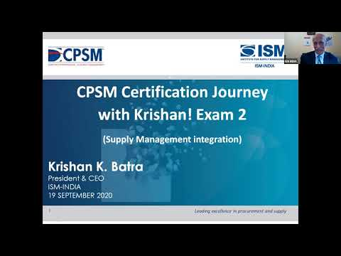 CPSM CERTIFICATION JOURNEY WITH KRISHAN! (Exam 2 ...