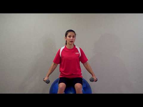 Lateral Raise on a Stability Ball