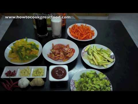 Sweet n Sour Vegetables Recipe – Veggy Vegan Chinese