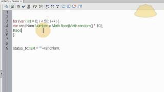 AS3 Random Number Generator Code - ActionScript 3.0 Tutorial