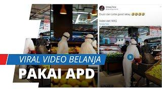 Viral di Medsos, Dua Pengunjung Mal Pakai APD saat Belanja, Diusir karena Meresahkan pengunjung Lain