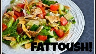 Fattoush--Arab Salad With Pita Croutons  Feast In The Middle East:Episode 16