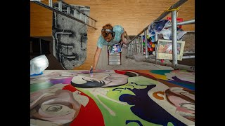 Timelapse: Chris Rogers Painting Mural at Pomfret School, Pomfret, CT