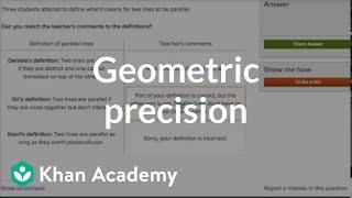 Geometric Precision Practice