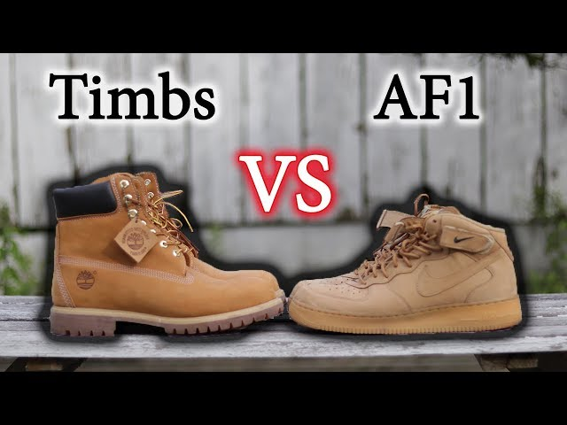 on sale 030e5 357b0 Essential Fall Sneakers   Air Force 1 Flax Vs Timberlands   Close Up   On  Feet 03 04 3,154