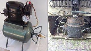 How to make Homemade Silent Air Compressor from old Refrigerator's Compressor