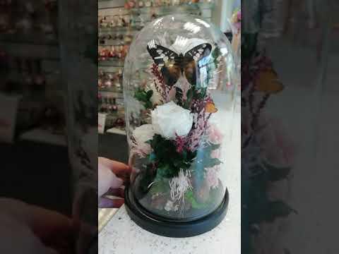 Композиции из натуральных цветов, в стеклянных вазах.   100% Real Flowers*   Гарантия 5 лет!!!