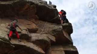 preview picture of video 'Via Ferrata La Mulatica   Andilla 2 8 14'