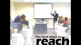 The Best Times to Reach  Your Audience- Marketing and Google Analytics  Speaker Chris N. West