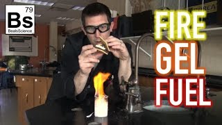 Fire Gel Fuel made from Egg Shells and Vinegar!