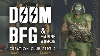 Doom BFG & Marine Armor: Plus, Chrome & Camo Power Armor Paint - Fallout 4 Creation Club