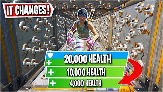 You have CHANGING HEALTH in this Deathrun... (Fortnite Creative)