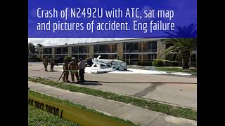 Cessna 172D Skyhawk N2492U Accident with dramatic ATC