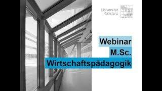 Webinar M.Sc. Wirtschaftspädagogik