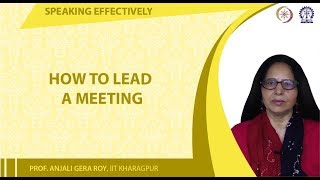 How to Lead a Meeting