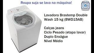 Lavadora Brastemp Double Wash 15kg (BWD15AB) -  Jeans/Ciclo Pesado